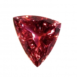 10.27 ct pink spinel - trillion cut - aigs certificate
